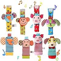 Twister.CK 8 Piezas para bebé sonajero, muñequeras