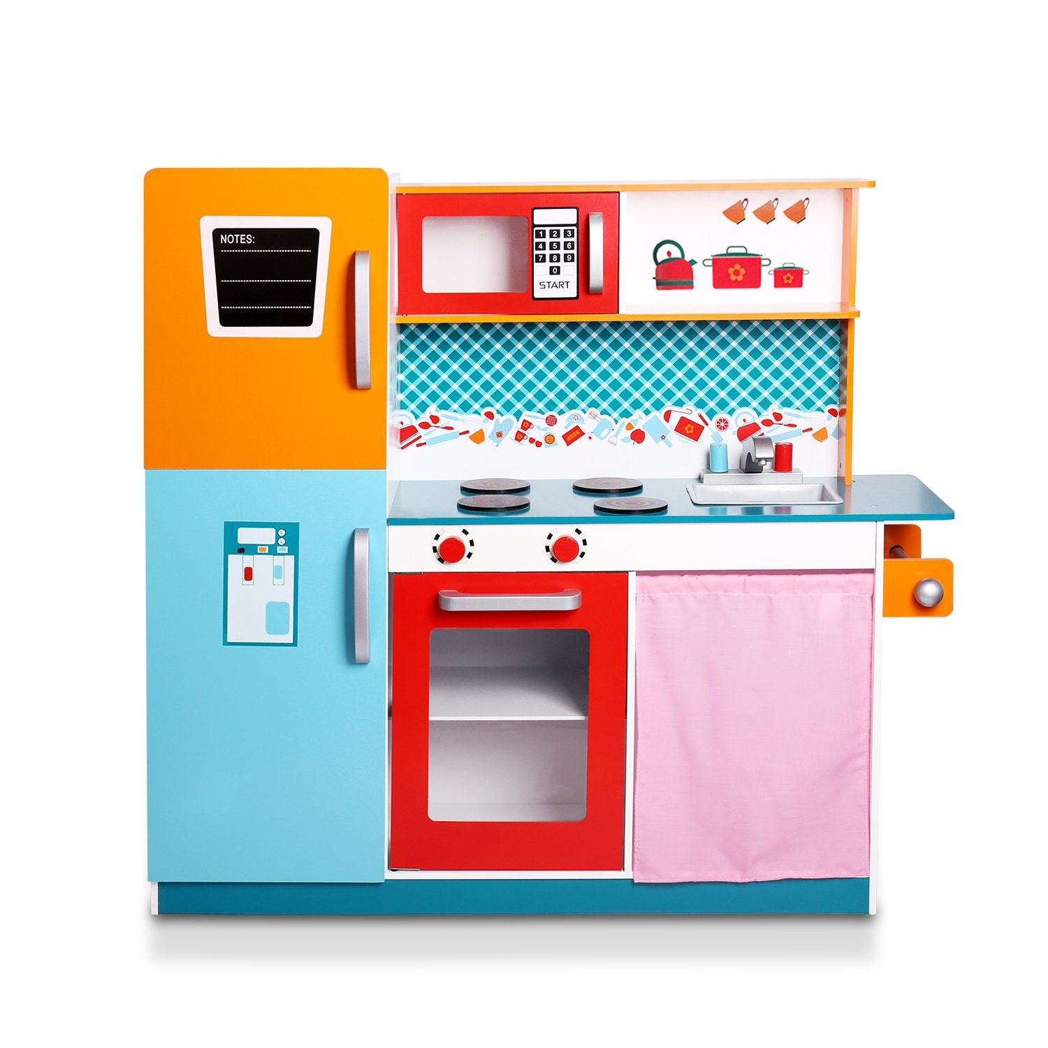 Amazon.com: WildBird Care Wood Kitchen Toy Kids Cooking Pretend ...