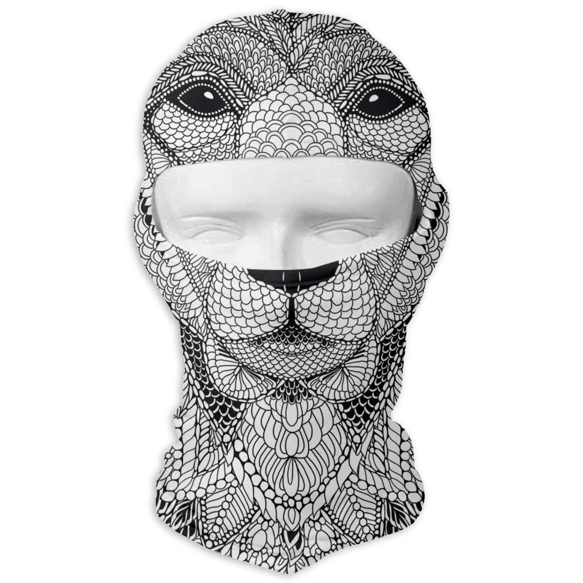 Wind-Resistant Face Mask LaoJi Bear Painting Winter Ski Mask Balaclava Hood