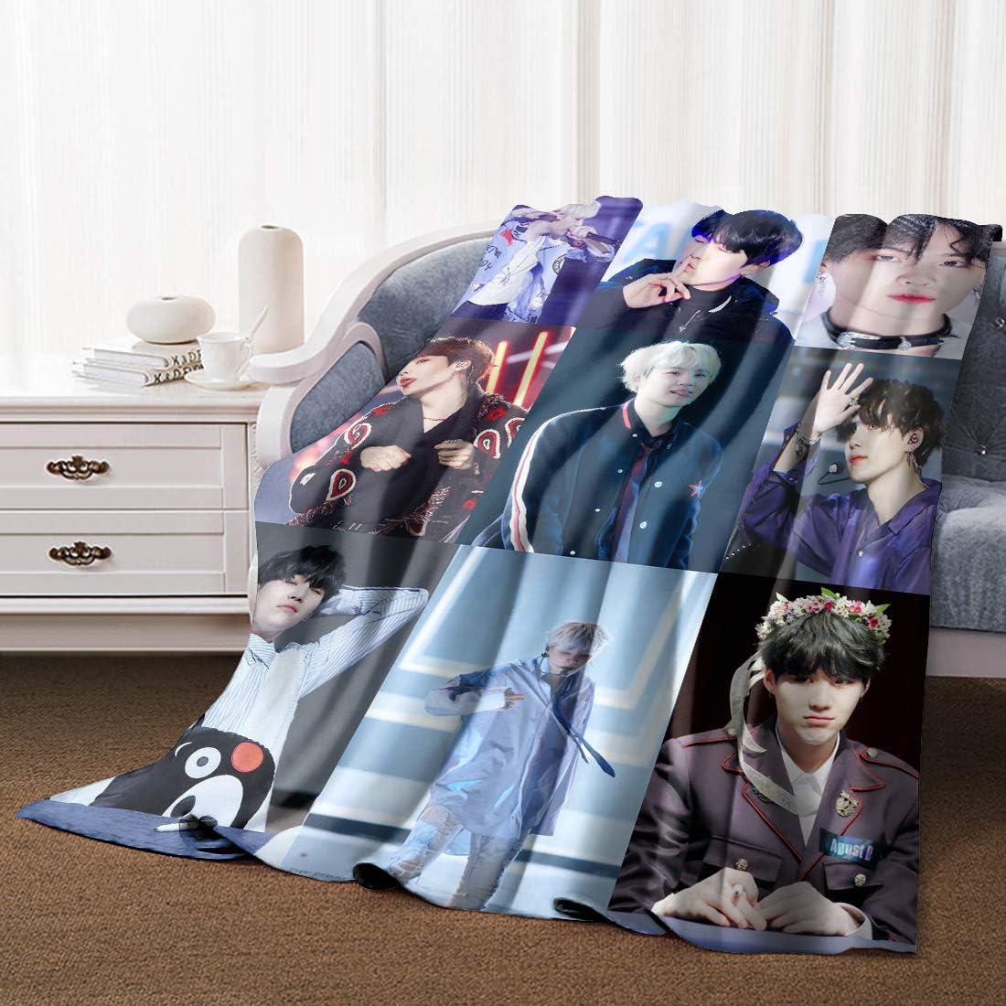BTS Jin Flannel Blankets Ultra Soft Warm Cabin Living Room//Bedroom Warm Blanket 40x59