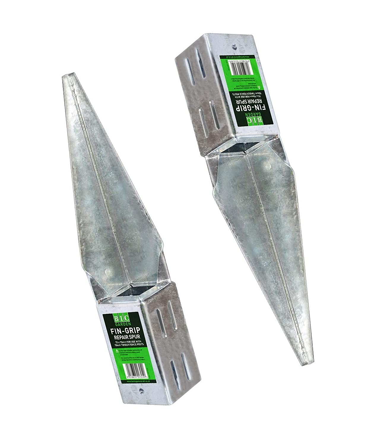 Timber Fence post shoes heavy duty Galvanised type 2 to suit 100mm square posts