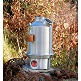 'Scout' Kelly Kettle® 1.2ltr (Aluminium) NOW WITH STAINLESS STEEL FIRE-BASE AS STANDARD - Camping Kettle and Camp Stove in one. Ultra fast lightweight wood fueled stove. NO Batteries, NO Gas, Fuel is FREE! For fishing, hunting, scouting or fun family picnics. Weight 1.5lb / 0.7kg