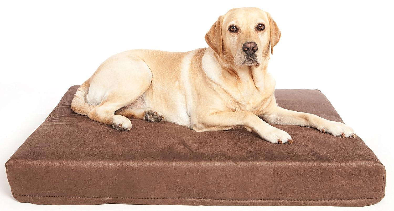 101 x 74 x 12.5 cm P&L SUPERIOR PET BEDS LTD Premium Memory Foam Dog Mattresses Faux Suede, 101 x 74 x 12.5 cm, Brown