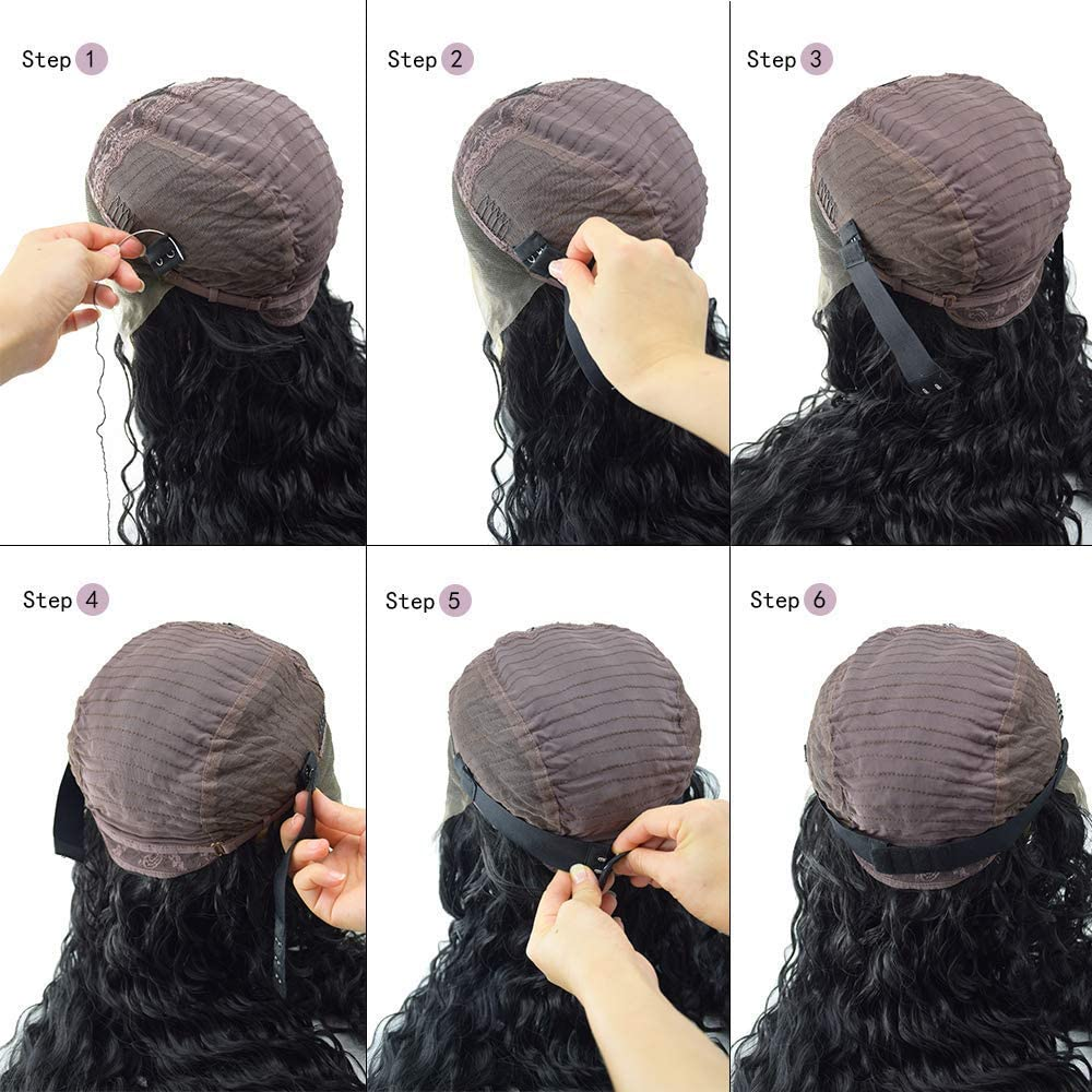 BLUPLE Hair Adjustable Black Elastic Band with Hooks For Wigs//Lace Closures//Lace Frontal Sewing Band 1.5 inch width 10.5 inch Length 1pcs