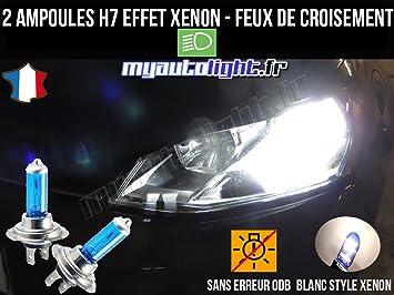 Pack Bombillas H7 blanco Xenon luz croisement-code para Volkswagen Golf 7: Amazon.es: Coche y moto