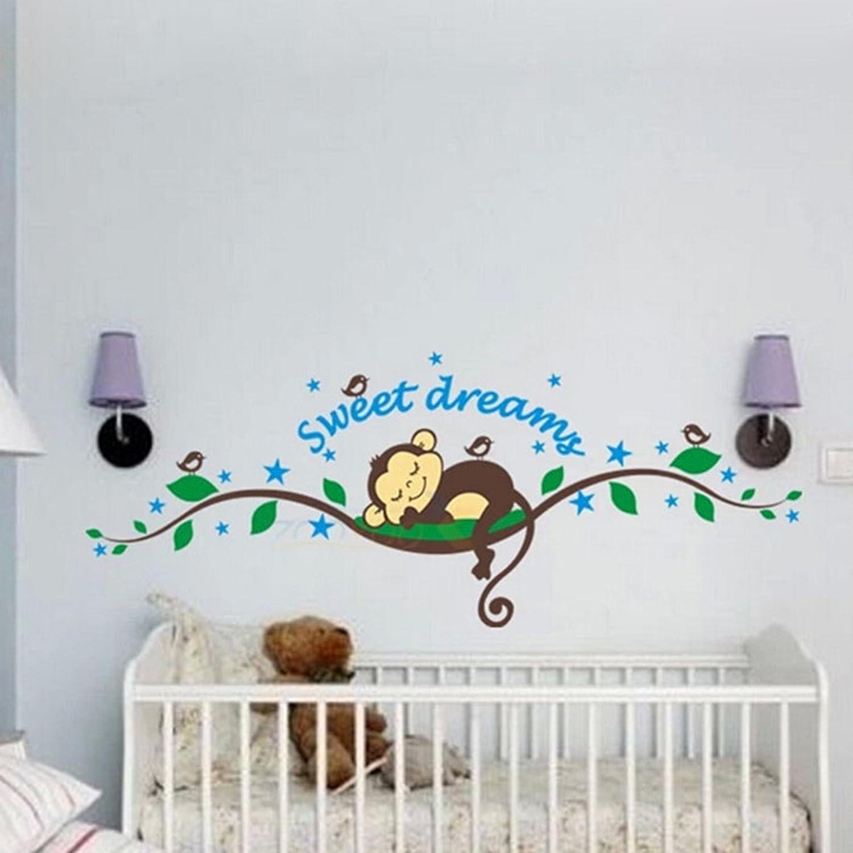 HuaYang Nouveau singe de sweet dreams sticker mural décoration