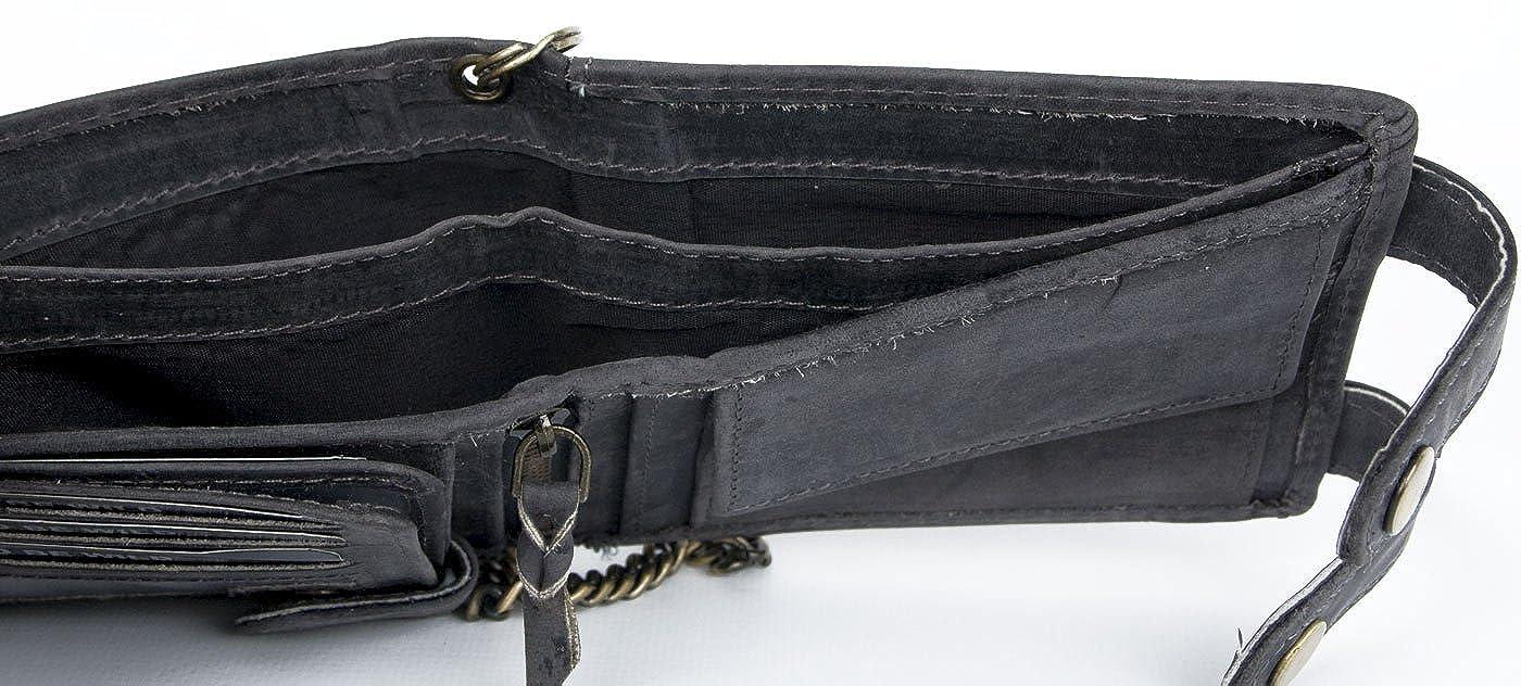 Amazon.com: De los hombres horizontal gris con cartera con ...