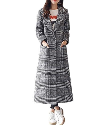 PDFGO Abrigos De Mujer Abrigo De Lana Abrigo De Lana Abrigo De Lana Sección Suelta Gruesa Larga Rodilla Capa De Celosía