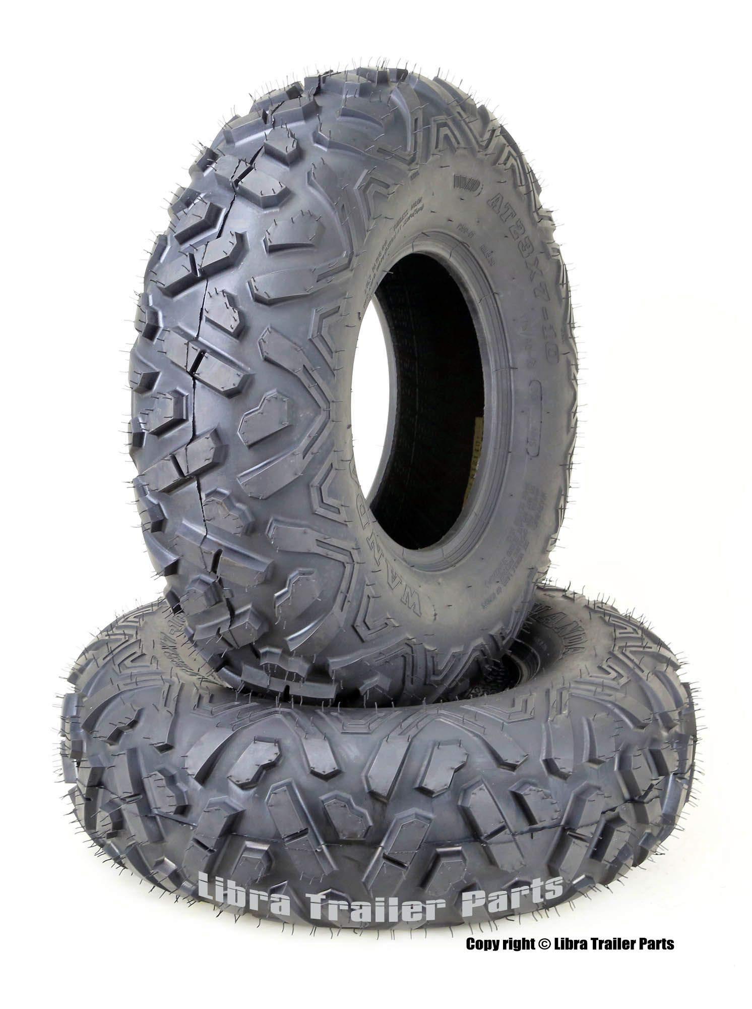 Set of 2 WANDA ATV Tires 23x7-10 23x7x10 4PR Big Horn Style by WANDA