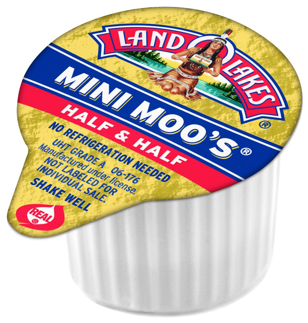 Land O Lakes Mini Moos Creamer Half and Half Cups 192 Count 54 fl oz (Pack  May Vary), Individual Shelf-Stable Half and Half Pods for Coffee Tea Hot ...