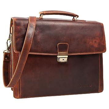 6f96591291 STILORD 'Noel' Porte-Documents Cuir Homme Vintage Classique Serviette de Travail  Sac d