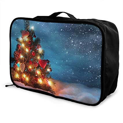 2158dd6e3ded Amazon.com: Mintslove Fashion Portable Luggage Bag Christmas Tree ...