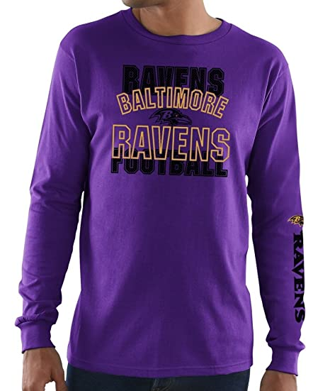 4d62ce7ae14 Image Unavailable. Image not available for. Color: Baltimore Ravens  Majestic NFL Primary Receiver 3 Men's Long Sleeve T-Shirt