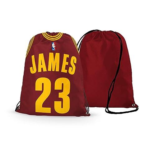 the latest b00b9 3dba8 GF-sports store NFL Football Team Logo Drawstring Backpack Gym Bag - Pick  Team (Cleveland-Cavaliers James)