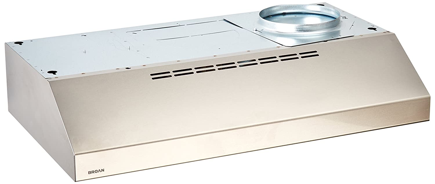 Broan QML30SS Under-Cabinet Range Hood, 30-Inch 200 CFM, Stainless Steel
