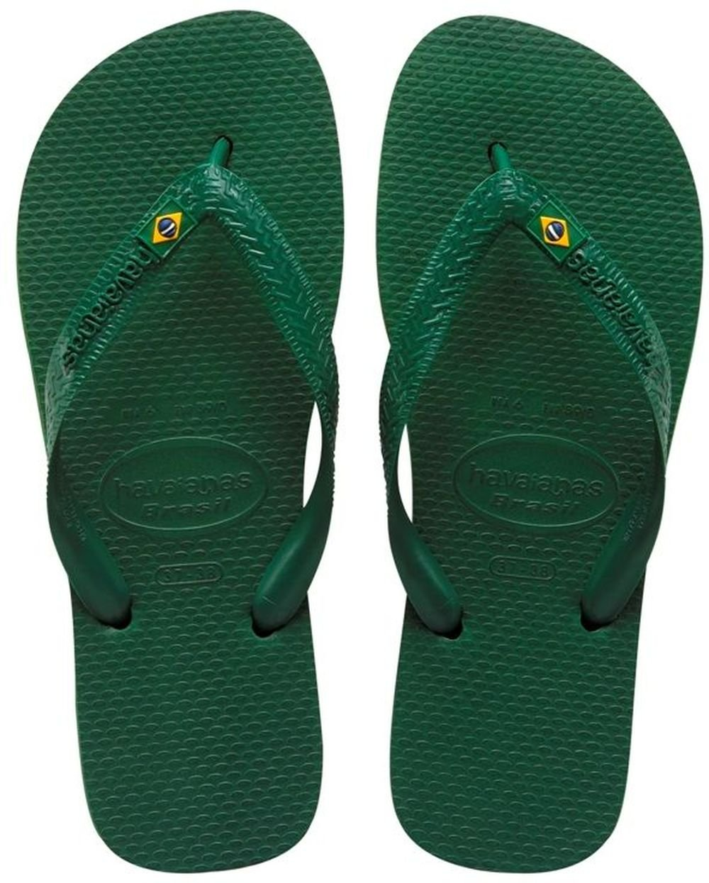 Havaianas Brasil, Unisex Adult's Flip Flops, Green (Brasil Amazonia), 3/4 UK (37/38EU) (35/36 BR) by Havaianas (Image #2)