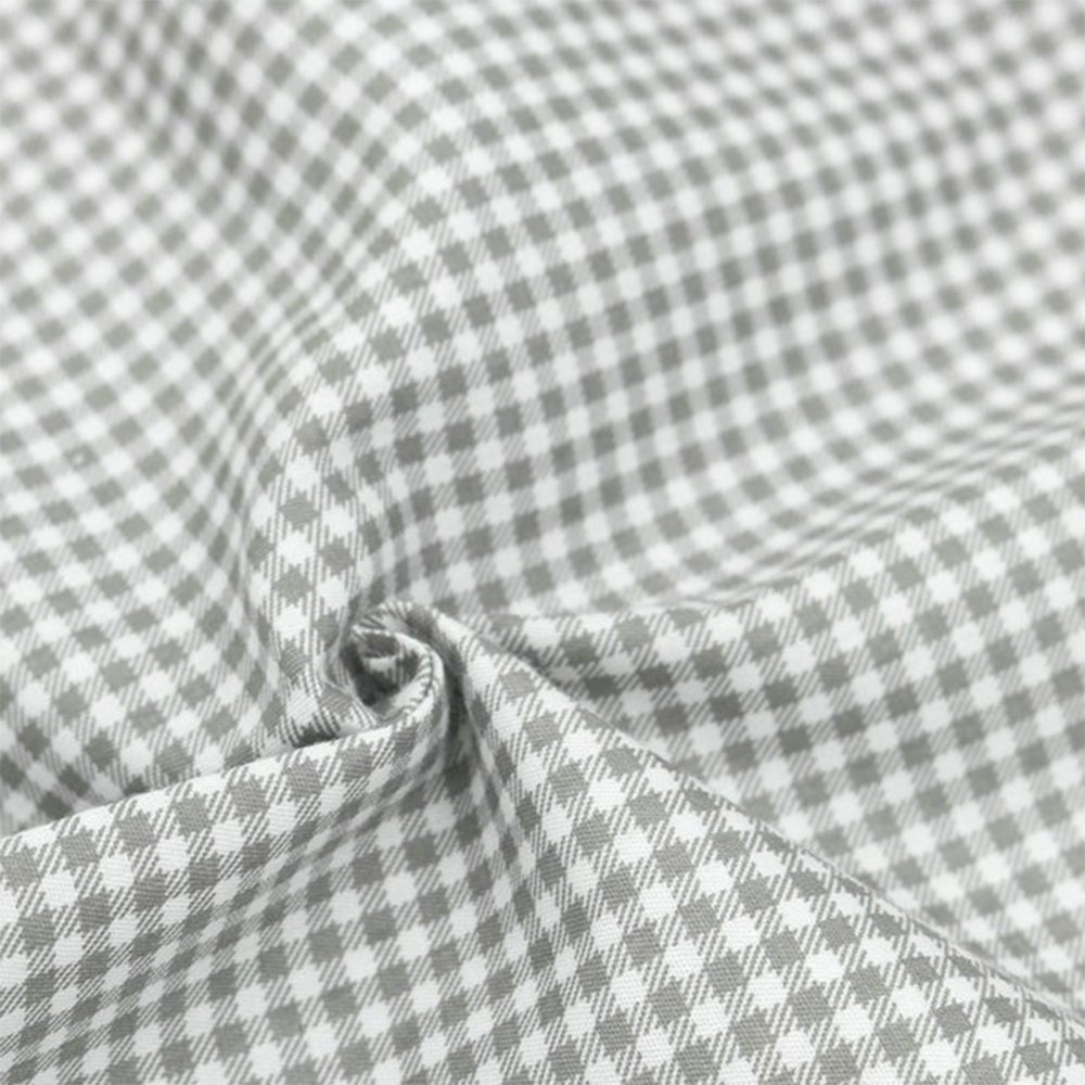 Hanjunzhao Quilting Fabric,Grey Fat Quarters Fabric Bundles,100% Cotton Fabric for Sewing Crafting,Print Floral Striped Polka Dot Gingham Fabric,18'' x 22''(Grey) by Hanjunzhao (Image #8)
