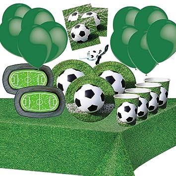 Fiesta de Cumpleaños de Fútbol 8 Niños Chico Decoración Mesa ...