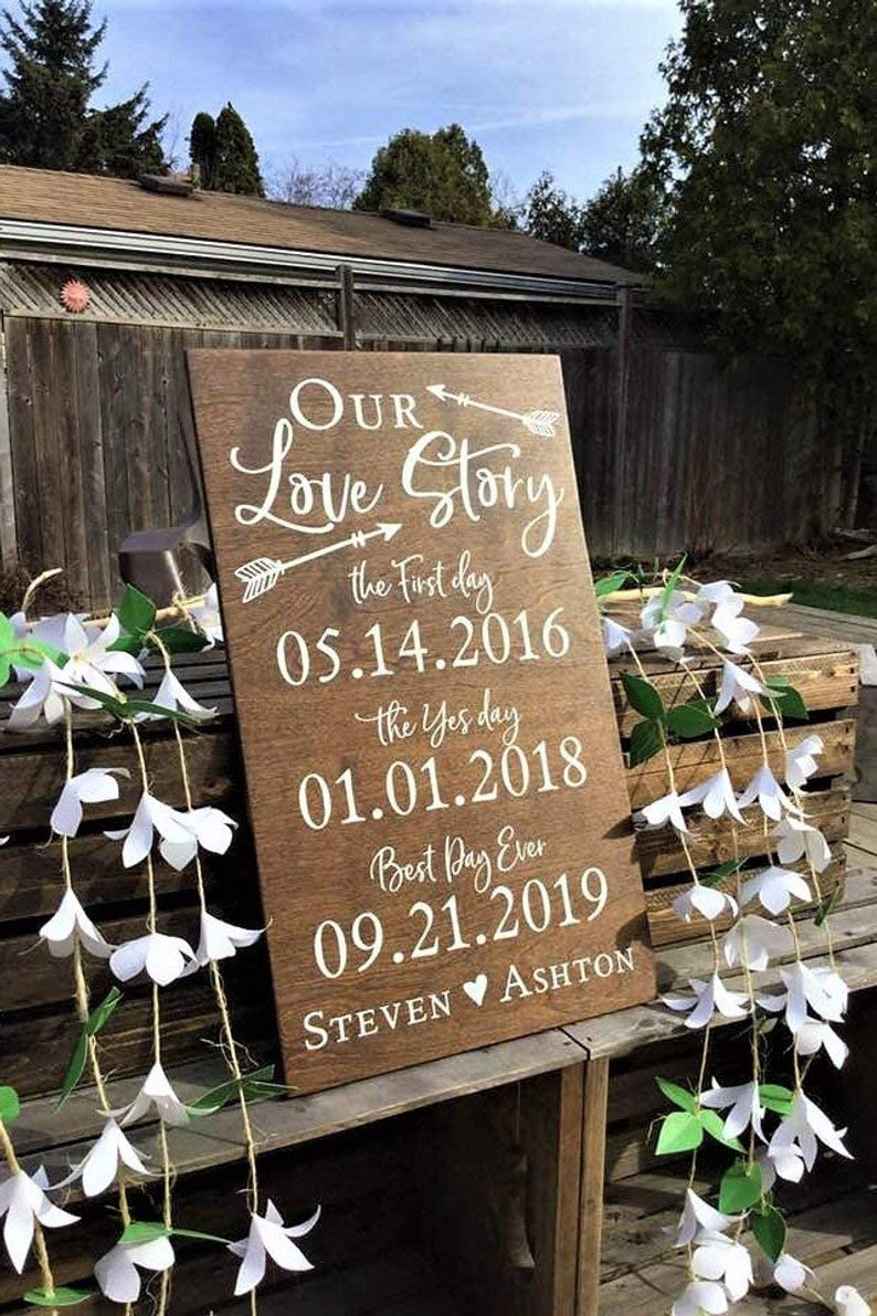 Thank You For Making Our Day Complete Sign-12x 9 Spread The Love Sign-Rustic Wood Wedding Sign-Wedding Favor Sign-Country Barn Wedding
