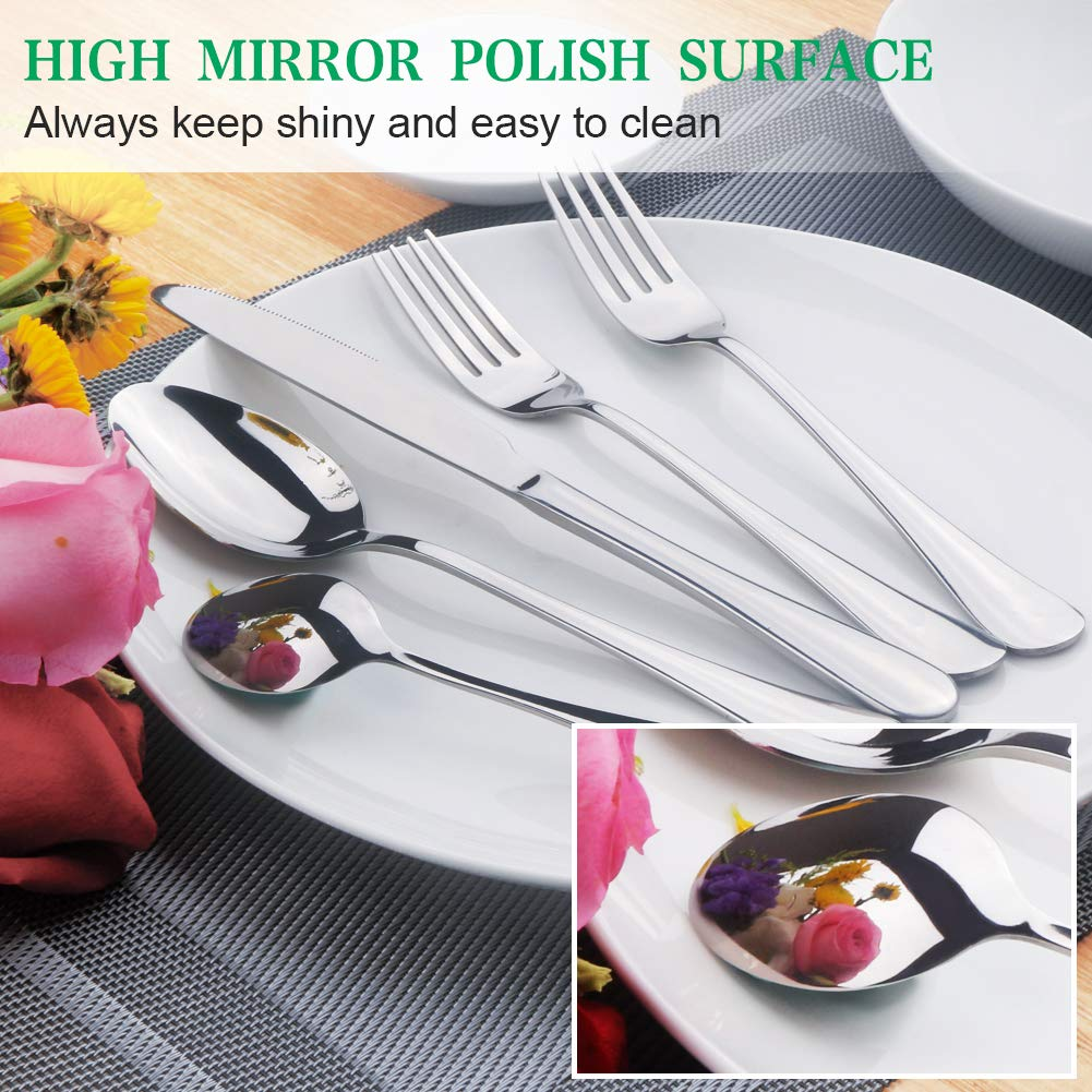 Silverware Flatware Cutlery Set Stainless Steel Utensils Service for 4 LPOLER 32 Pieces Include