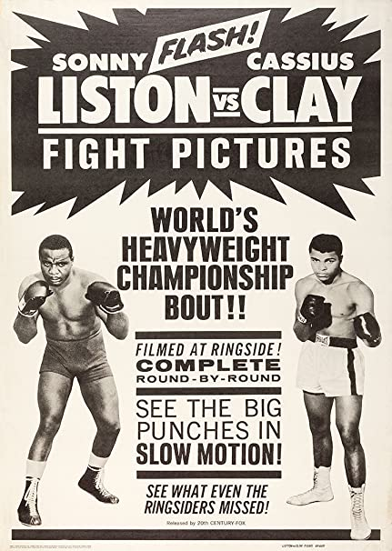 64ebd96b Sonny Liston Vs Clay Muhammad Ali Promo Bill Boxing A4 Poster / Print /  Picture 260GSM Satin Photo Paper: Amazon.co.uk: Kitchen & Home