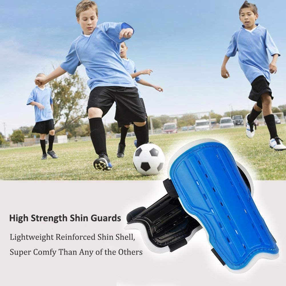 fast-shop Football Shin Pads Ultra Light Soft Soccer Guards Sports Leg Protector Kids Useful and Practical