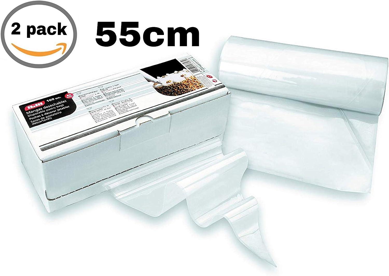 IBILI 773755-2 x Pack Manga repostería desechable 55 cm (Caja ...
