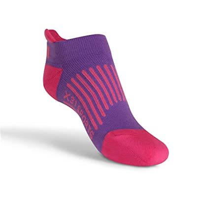 X31 Sports Low Cut Running Socks with Tabs Cushion Arch Support