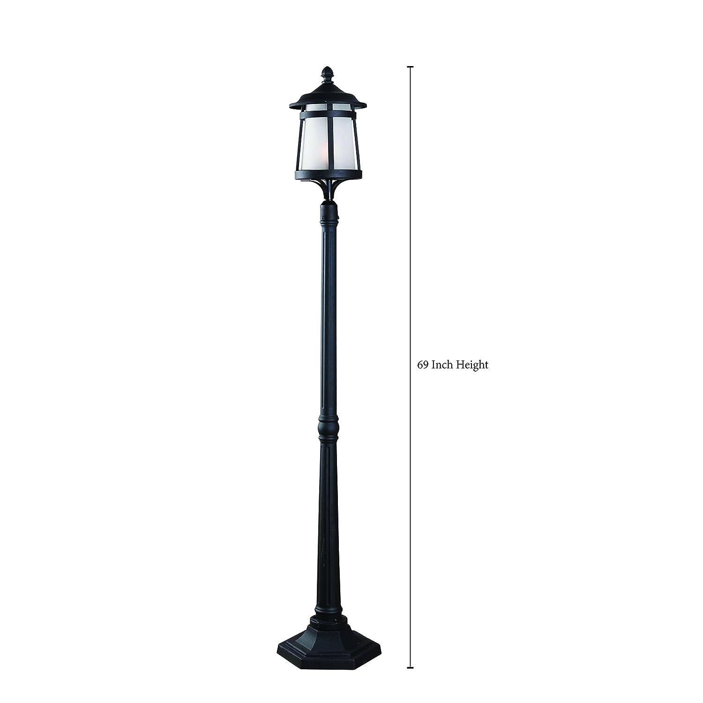 Kenroy Home 93431BL Portable Post 1 Light Lantern, 69 Inch Tall, Black