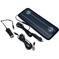 MASO Panel Solar Trickle Cargador de batería, 4,5 W, 12 V, Cargador de batería de Coche para Barco y yate al Aire Libre Fuente de alimentación