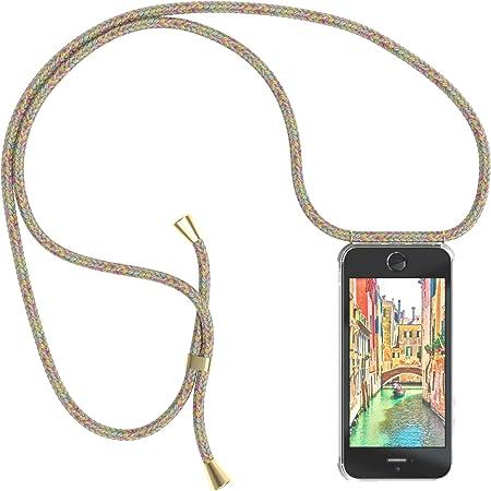 EAZY CASE Collana per cellulare compatibile con iPhone 5/5S/SE (2016) Custodia con cordino per telefono cellulare con custodia protettiva in silicone, ...