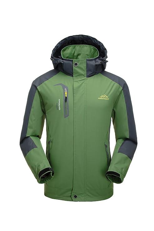 Chaqueta impermeable Hombre, Transpirable Lluvia Rompevientos, Senderismo Viaje Resistente al viento chaqueta con capucha
