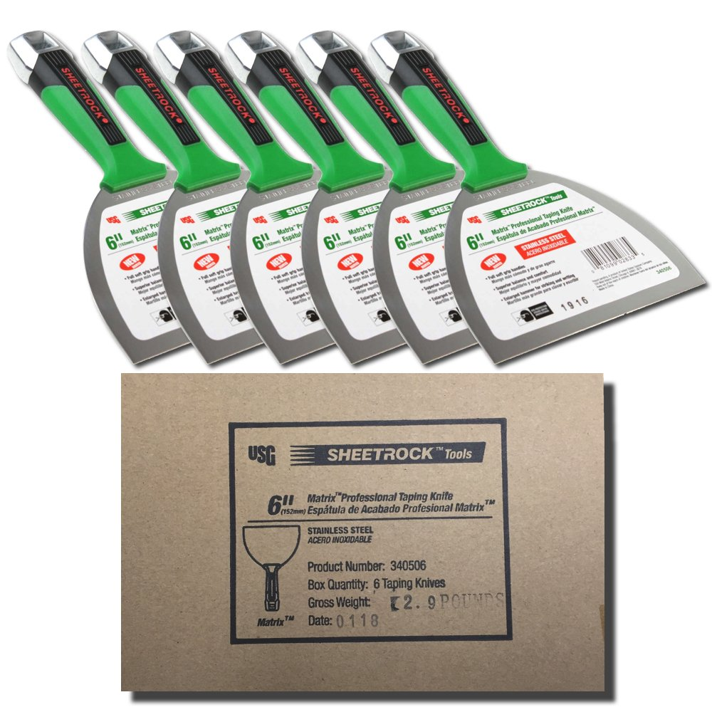 USG Sheetrock MATRIX 6'' Stainless Steel Joint Knife - 6-Pack Contractor Box
