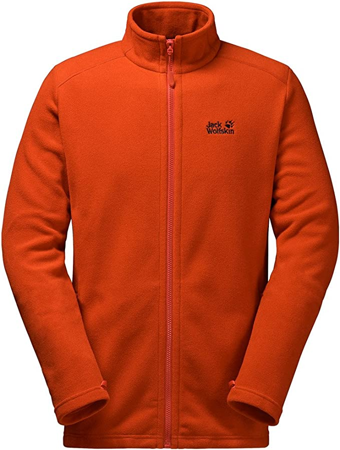 jack wolfskin fleece herren orange