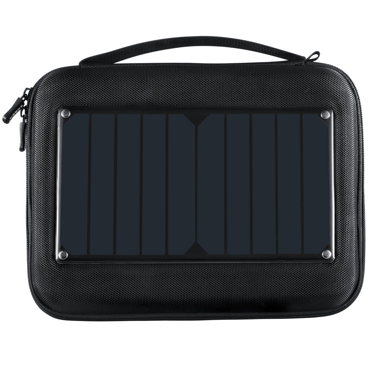 ECEEN Gopro Case with 5W Solar Panel Charger&5000mAH Battery Pack for Hero 4, 3+, 3, 2, Hard Shell Carrying Case with EVA Shockproof Foam, Ideal for Travel or Home Storage -Large for 2 GoPro cameras