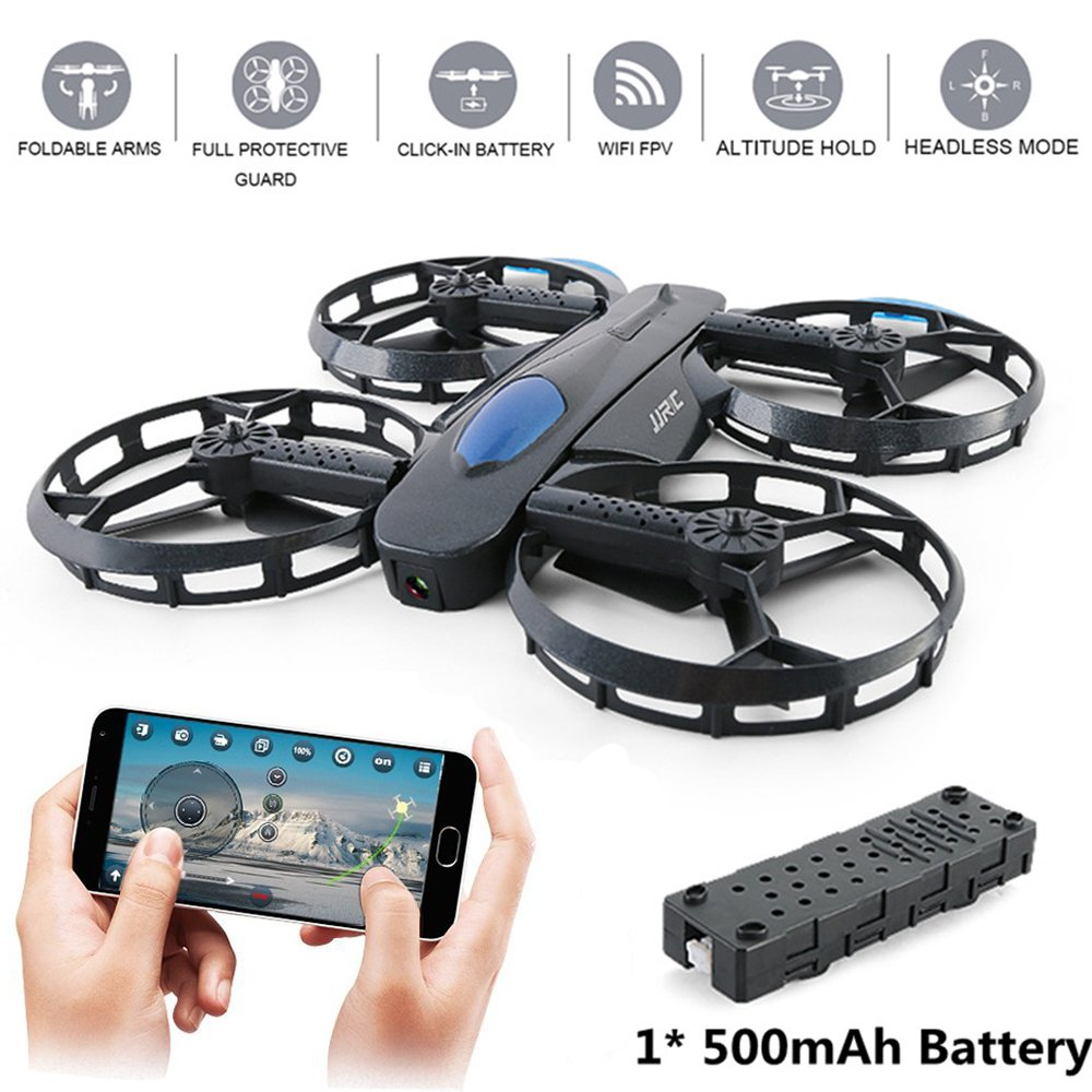 JJRC H45 RC Drone with Camera 720P HD WiFi FPV 2.4GHz 4CH 6-Axis Gyro RC Selfie Foldable Quadcopter with Altitude Hold,G-sensor Control and Headless Mode