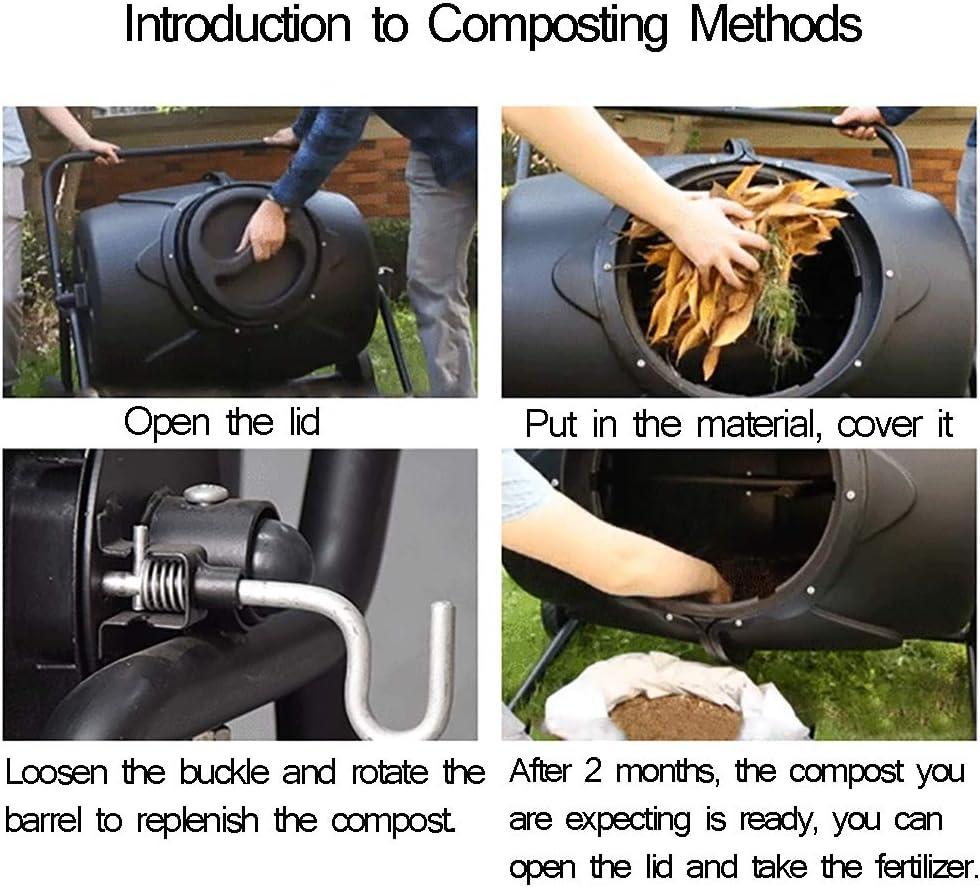 ZDYLM-Y Vaso de Compost para jardín, Gran Capacidad, Barril fácil ...