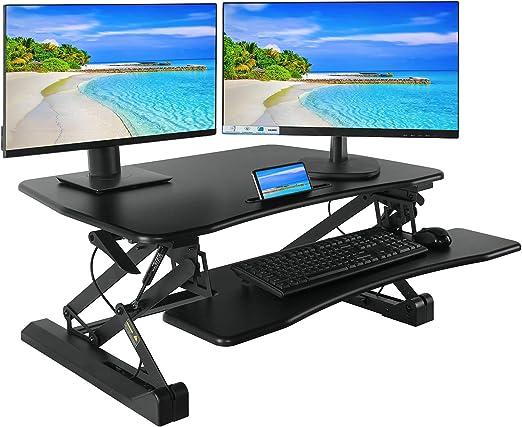 36 inch Height Adjustable Standing Desk Converter Computer Sit Stand Desk Office