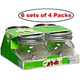 Collection Elite Pint (16-oz.) Wide Mouth Jars (6 Pack of 4 - 16 oz)