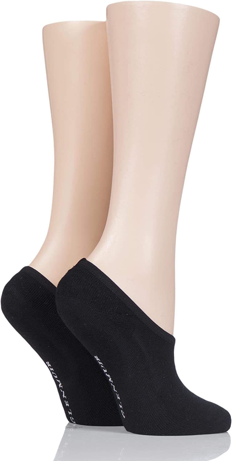 Ladies 2 Pair Glenmuir Cushioned Bamboo Shoe Liners