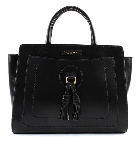 0eae0d2ec6e1 THE BRIDGE Santacroce Two Handle Bag Black  Amazon.co.uk  Shoes   Bags