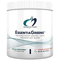 Designs for Health Green Smoothie Powder - EssentiaGreens Gluten-Free Powder with Organic Alkalizing Vegetables + Prebiotic Fiber (285g, 28 Servings)
