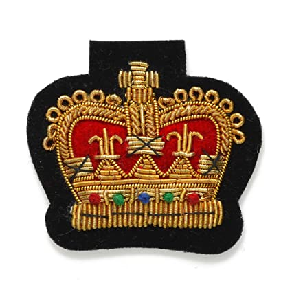 Amazon com: Crown Bullion Wire Embroidered Badges, Sew-on Applique
