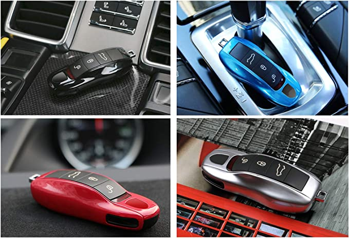 Gloss White FOB Remote Key Case Cover Replacement For Porsche 997 Cayman Macan