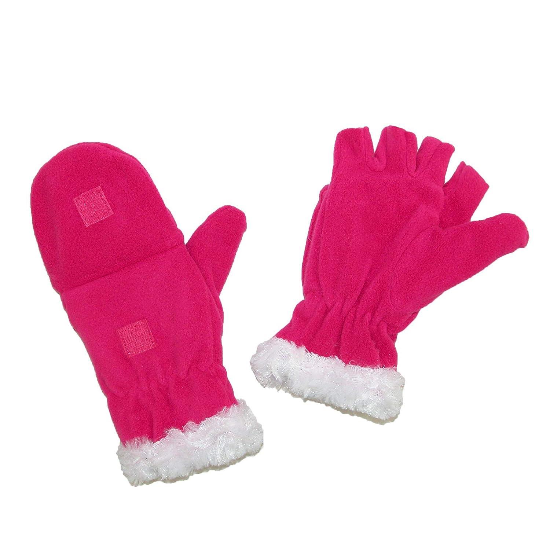 Grand Sierra Girls 4-16 Fleece with Faux Fur Convertible Mitten to Glove