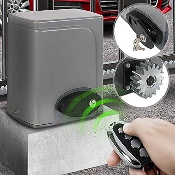 Motorisation Pour Portail Coulissant | 180 W, 2 Télécommandes Incluses  (Portée Env. 30m