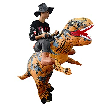 HandsEase Disfraz Hinchable de Dinosaurio, Disfraz de Halloween T ...