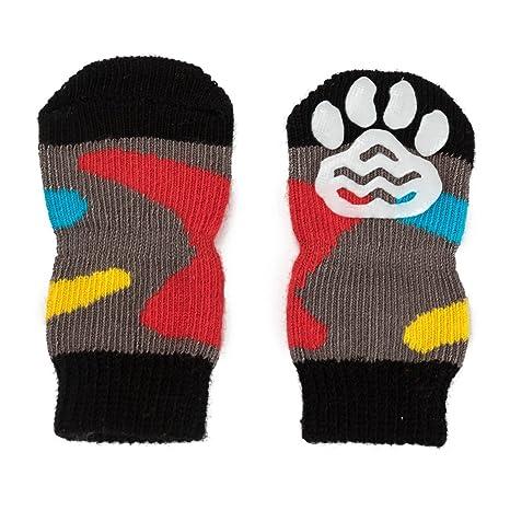 Pet Heroic 6 tamaños Calcetines Antideslizantes para Perros Gatos, Protectores de Patas para Perros Gatos