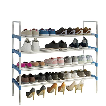 e32ca94ce7a7d AcornFort® S-512 4 Tiers 85CM Extra Width Adjustable Shoe Storage Shoe Rack  Organiser Shelf Hold Stand for 20 Pairs Shoe , 2017 New Upgrade Sturdy ...