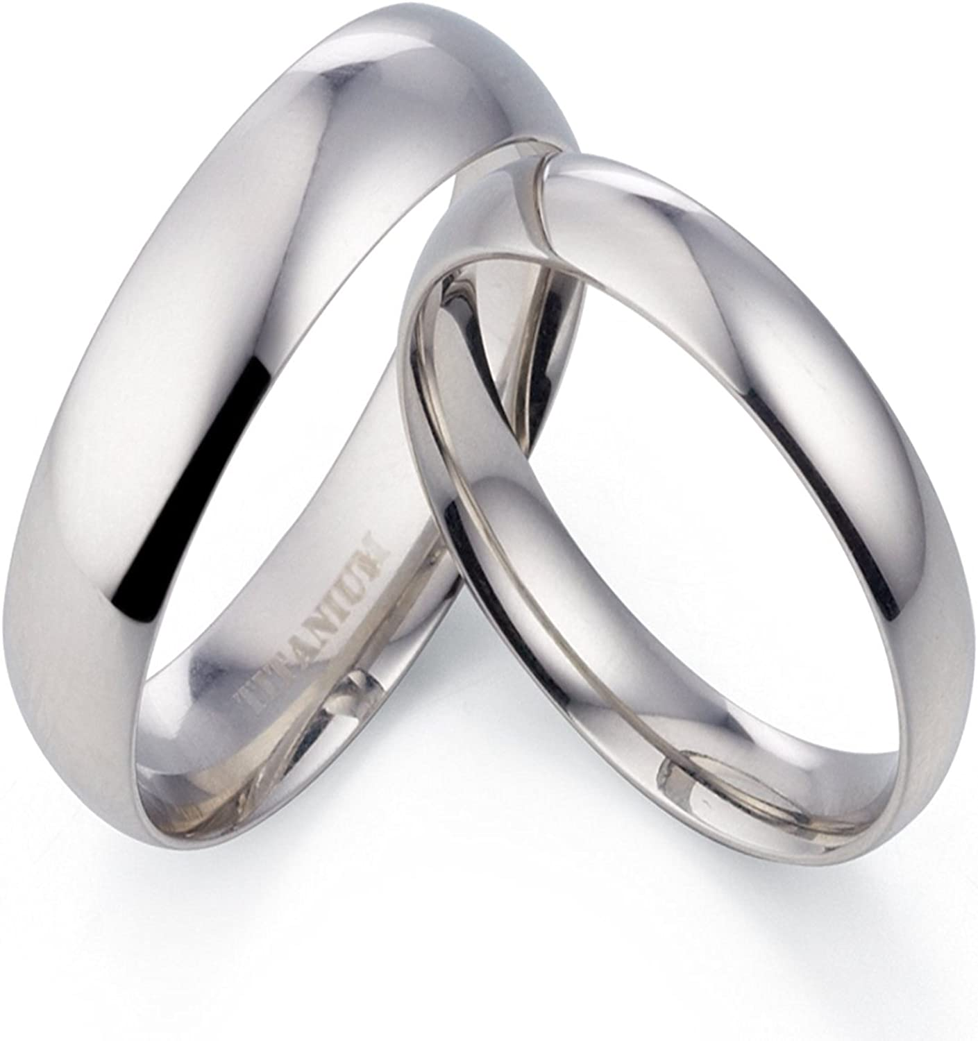 Gemini His and Her Black Titanium Promise Rings Couple Matching Wedding Rings Set 6mm /& 4mm Width Men Ring Size 8 6.5 Women Ring Size
